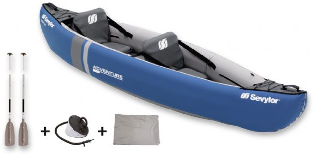 Sevylor Adventure Kit 2 Person Inflatable Kayak | Water sports equipment | inflatable boats | kayaks and towable rideons | outdoor sports equipment | Caravan Parts and Accessories shop | caravan and motorhome accessories | camping equipment | water activities equipment | kayak | paddle | kayak gifts | camping accessories | new year sale